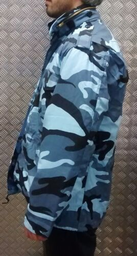All Sizes NEW US Military Style M65 Lined Combat Jacket Mid Nite Camo MOD