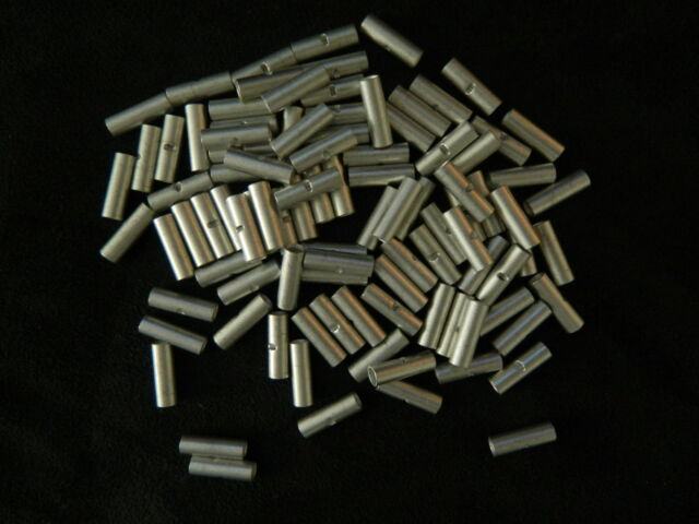 18-22 GAUGE 25 PK UNINSULATED NON INSULATED BUTT CONNECTOR CRIMP TERMINAL WIRE