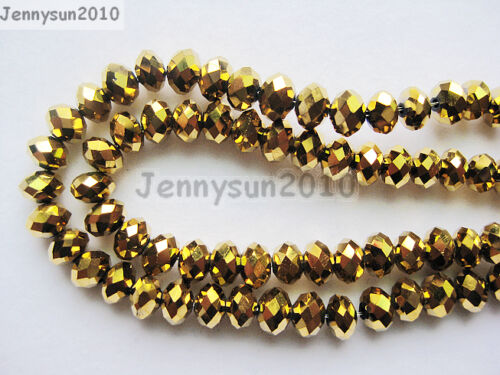 Freeshipping 100Pcs Top Quality Czech Crystal Faceted Rondelle Beads 6x 8mm Pick