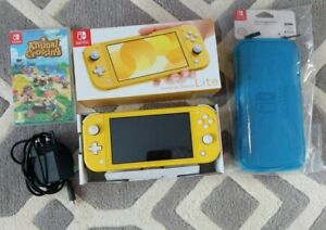 Nintendo Switch Lite Yellow Console Boxed With Animal ...