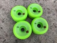 Old School Vtg Powell Peralta Mini Rat Ii Skateboard Wheels Green 57mm