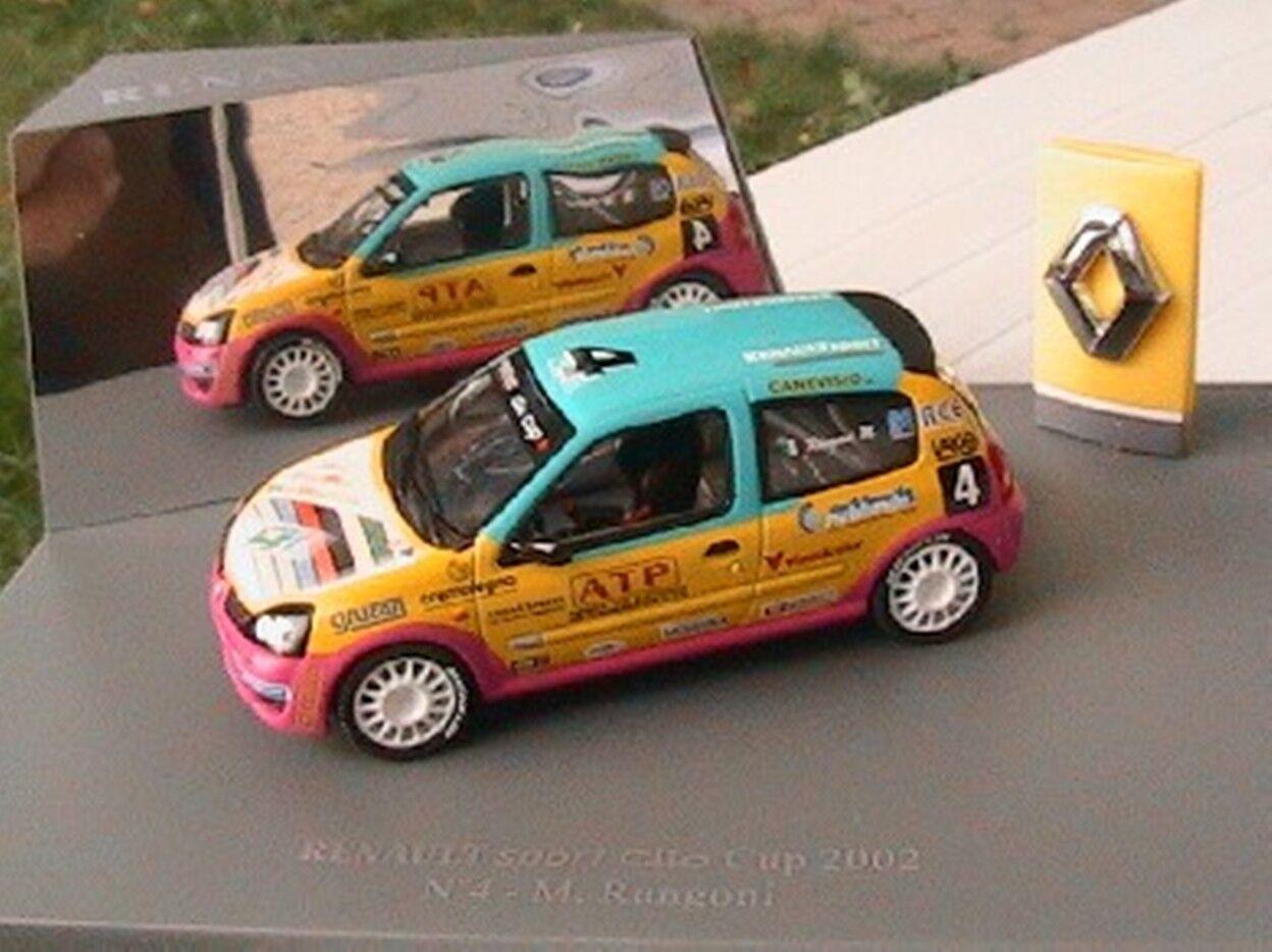 RENAULT SPORT CLIO CUP 2002 N° 4 M RANGONI UNIVERSAL HOBBIES 1 43 RACE