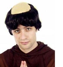 Parrucca Monk Prete Frate Tuck Vicario Testa Pelata Parrucca Costume Accessorio