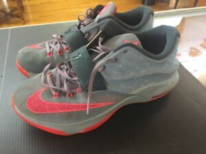 ac0ad2d8376a Nike Air Zoom KD 7 VII Calm Before Storm Men Size 8.5 Gray Punch ...
