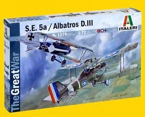 a ITALERI 1374 - S.E. 5a e ALBATROS D.III (Scala 1/72) - Italia - a ITALERI 1374 - S.E. 5a e ALBATROS D.III (Scala 1/72) - Italia