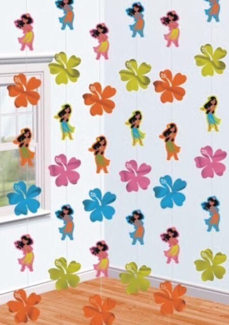 6 Tropical Luau Hula Girl 7ft Hawaiian Party Doorway Door Curtain Decoration