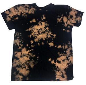 e8f40c573ea72 Details about Bleach Out Tie Dye Shirt Colorful Black T-Shirt