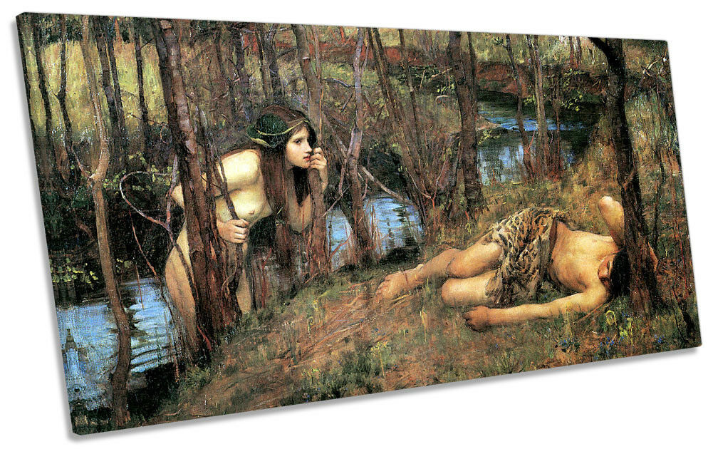 John William Waterhouse A Naiad Picture PANORAMIC CANVAS WALL ART Print