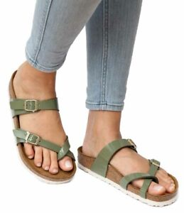 9e6b1e8ea9ac0 Details about Birkenstock Sandals MAYARI Patent Khaki green Birko-Flor  regular NEW