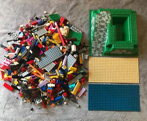 Lot-1-5-kg-kilos-Et-3-Plaques-LEGO-Vintage-vrac-Varies-Duplo-City-Lot-N-30