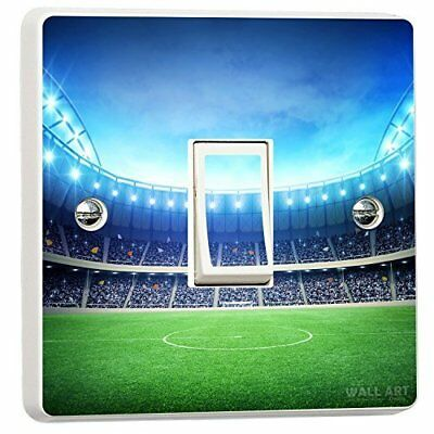 Football Soccer Stadium Single Light Switch Cover Vinyl Sticker
