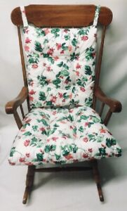 Rocking-Chair-or-Glider-Over-Sized-3-pc-Waverly-Floral-Indoor-Cushion-Set