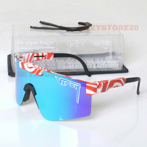 Pit Viper Polarized Cycling Sunglasses Sport Goggles TR90 For Men//Women Outdoor