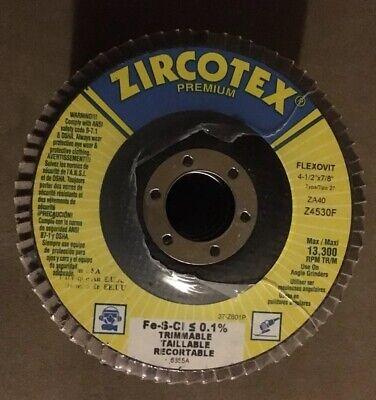 ZIRCOTEX STANDARD by FLEXOVIT SUPER FLAP DISC 4-1//2 X 7//8 TYPE 29 ZA24 BRAND NEW