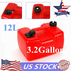 New 3.2 Gallon Outboard Boat Gasoline Tank, Portable Fuel, High-tech Anti-static