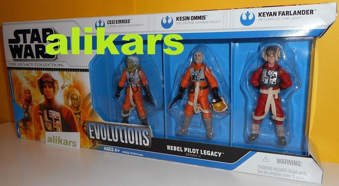 Evolutions REBEL PILOT LEGACY Series II Cesi Eirriss Kesin Ommis Keyan Star Wars