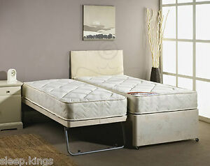 3FT SINGLE GUEST BED 3 IN 1 WITH MATTRESS PULLOUT TRUNDLE BED