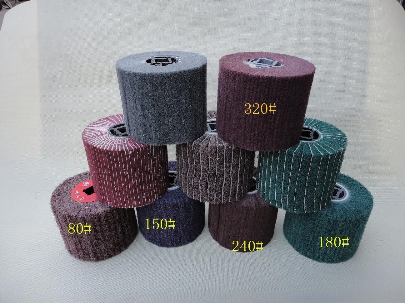 8 Pieces FLEECE (Non-woven) burnishing Wheel For Burnishing Tools Fein metabo