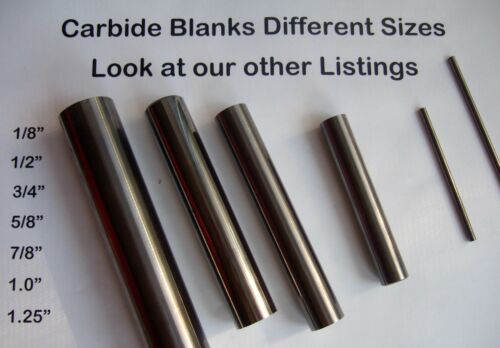 """Round Solid Carbide Rod End Mill Blank Bar 1.00/"""" Diameter x 4.50"""" Length"""