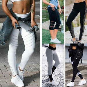 Exercise-Leggings-Running-Yoga-Sports-Fitness-Gym-Stretch-Pants-Trousers-Womens