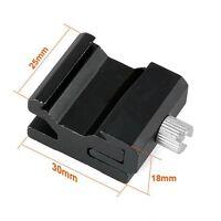 "Metal Speedlite Hot Shoe Flash Light to Stand Mount Adapter 1/4""-20 Tripod Screw"