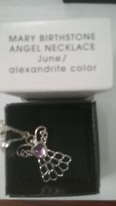 Image is loading Avon-June-Mary-Birthstone-Angel-Necklace-plus-free- 71a8d4183191