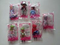 7 Pc Lot Mcdonald's Happy Meal Toy Dolls Set 2010 Madame Alexander Fairy Tales