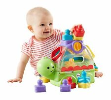 Fisher-Price Little Stackers Sort 'n Spill Turtle New