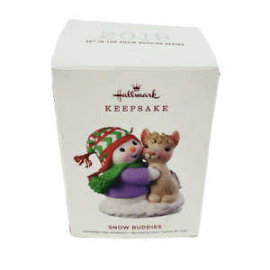Hallmark-Keepsake-Snow-Buddies-Snowman-amp-Llama-Christmas-Tree-Ornament