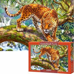 Castorland 1500 Piece Jigsaw Puzzle Sneaking Jaguar