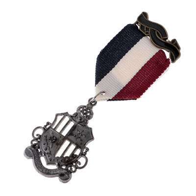 2Pcs Mens Military Uniform Navy Medal Streampunk Badge Brooch Party Jewelry