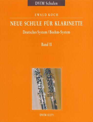 Ewald Deutsches System // Böhm-System Neue Schule für Klarinette Band 2 Koch