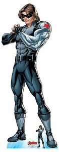 Winter-Soldier-Official-Lifesize-Marvel-Avengers-Cardboard-Cutout-with-Free-Mini