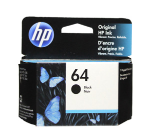 HP #64 Black Ink Cartridge 64 N9J90AN NEW GENUINE