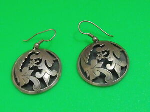 Image Is Loading Vintage Middle East Handmade Sterling Silver Earrings Flower