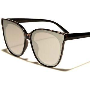 66a57c26db Classic Old Fashioned Blue Mirrored Flat Lens Black Tortoise Cat Eye ...
