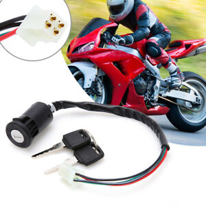 ignition key switch lock 4 wires for motorcycle motor scooters