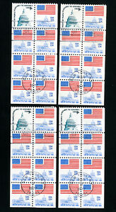 US-Stamps-1623B-VF-Used-lot-of-4-Scott-Value-70-00