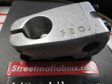 "FIT BMX Bike GooseNeck Stem front Load 1-1/8"" 11oz RAW SILVER SE S&M GT Cult NEW"