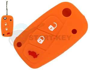 Fiat-Lancia-Citroen-Cle-Silicone-Etui-Couverture-Punto-Stilo-Panda-Ducato-Orange
