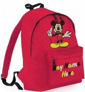 PERSONALISED-MICKEY-MOUSE-DESIGN-RUCKSACK-BACKPACK-for-infants-Juniors