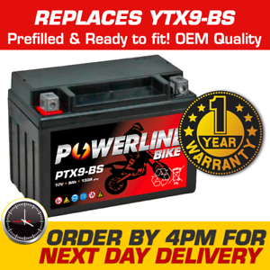 GEL NANO TECH MOTORCYCLE MOTORBIKE 12V VOLT BATTERY DTX9-BS Replaces YTX9-BS