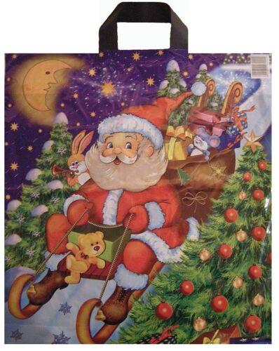 50 DKT Sacs sacs sachets Noël Père Noël Traîneau 38x44