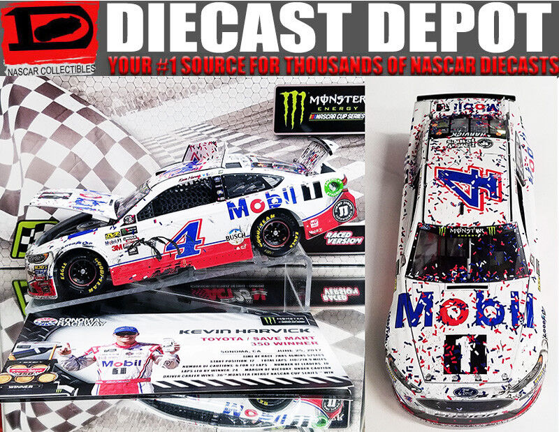 KEVIN HARVICK 2015 DOVER WIN RACED VERSION BUDWEISER 1//24 ACTION NASCAR DIECAST