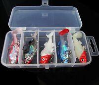 5pcs Mix Color Fishing Crankbaits Soft Lure Baits Hook Box 8g