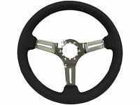 1963 - 1982 Corvette Black Steering Wheel With A Chrome Center