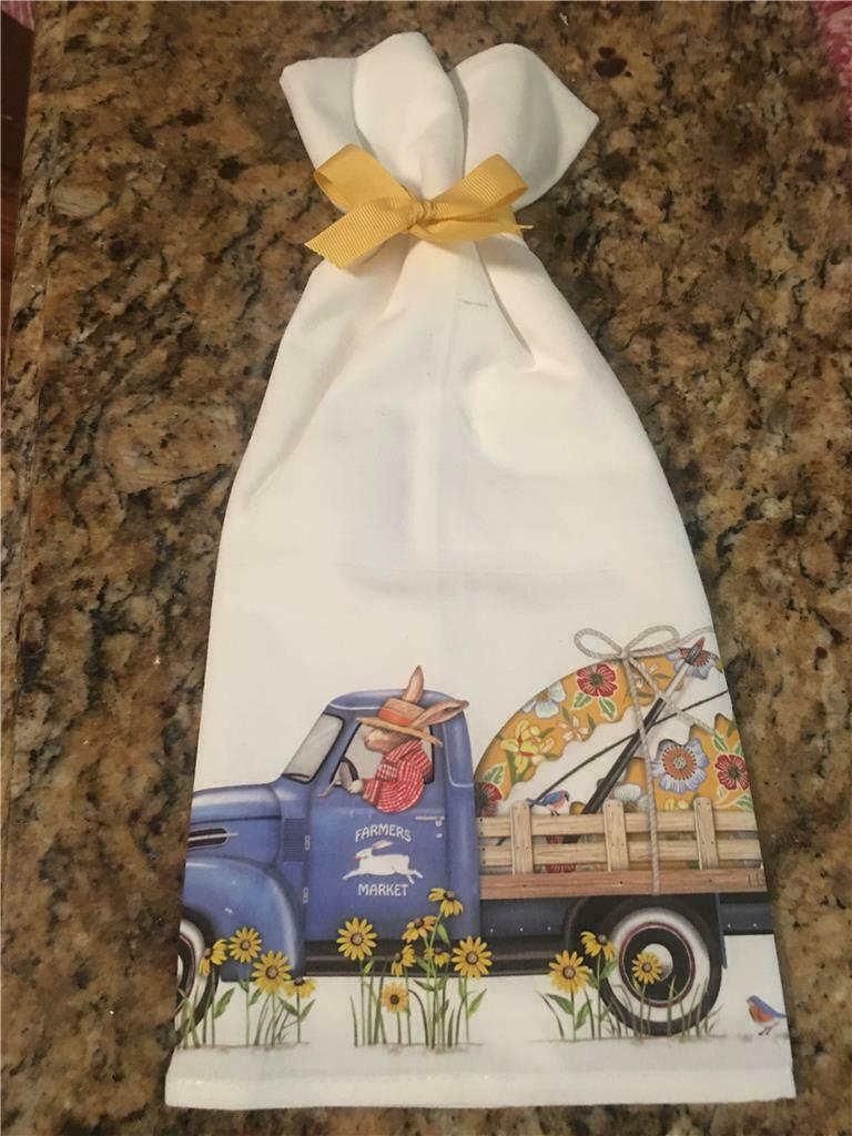 Mary Lake Thompson Blue Winter Ski Truck 100 Cotton Flour Sack Dish Tea Towel For Sale Online Ebay