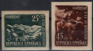 Sellos-Espana-1938-n-787-A-788-A-Homenaje-43-division-Nuevos-Spain-stamps