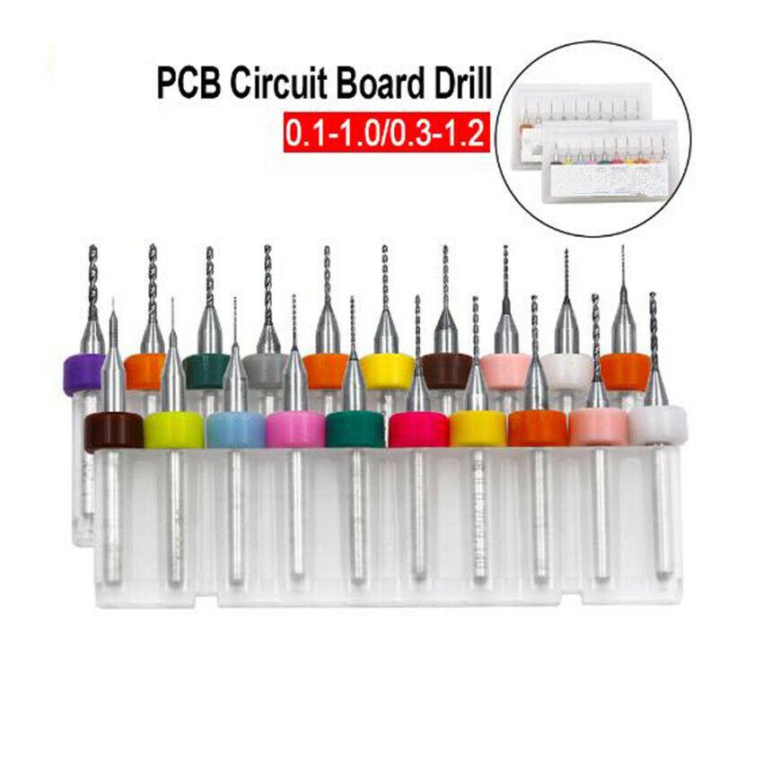 1 Set 10 Pcs 0.15mm Carbide CNC Engraving Circuit Board Micro PCB Drill Bits