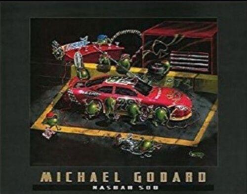 """Michael Godard /""""NASBAR 500/"""" Martini-Olive-NASCAR Racing-Daytona-Las Vegas-Poster"""